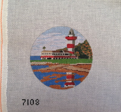Harbour Town Light needlepoint orn