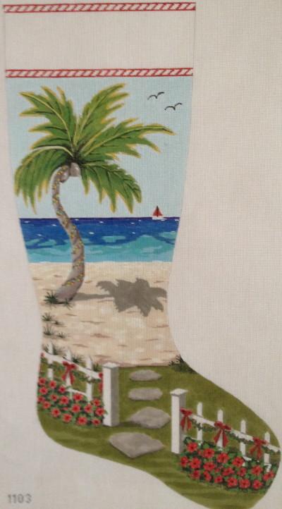 Seaside Christmas stocking cropped